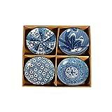 lachineuse 4 Assiettes Design Japonais - Traditionnel et Original