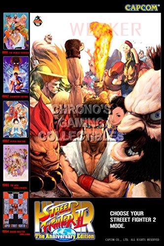 PremiumPrintsGaming - Hyper Street Fighter II Poster - YSTR014 Premium Canvas 11' x 17' (28 cm x 43 cm)