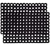 RUBBER MAT WITH DRAIN HOLES: The drainage holes allow liquid and waste to pass through, making this rubber matting easy to clean and stain resistant providing a clean, dry and safe work area ANTI-FATIGUE MAT: Anti Fatigue properties provide all-day c...