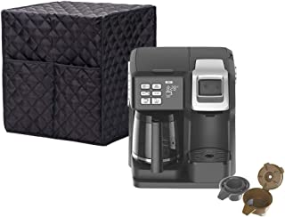 """Smart Coffee Maker Cover, Espresso Appliance Cover, Large Size Single-Serve Brewers Cover, 12.6""""Lx12.2""""Wx14.2""""H, Diamond C..."""
