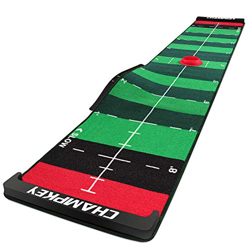 CHAMPKEY 10' x 20' SCPS Speed Control Putting Mat - Adjustable for 4 Speeds and Custom Slope Golf...