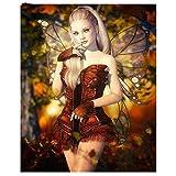 xinyouzhihi Fairy Dragonfly Print Poster Leinwand Bilder