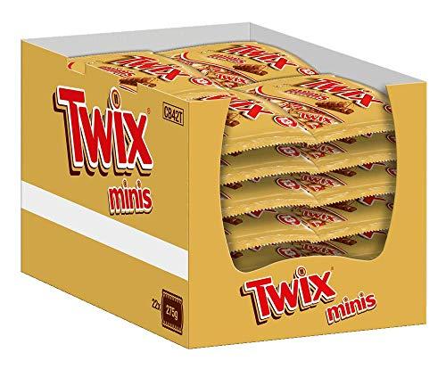 Twix Schokoriegel | Minis, Keks | 22 Packungen in einer Box (22 x 275 g)