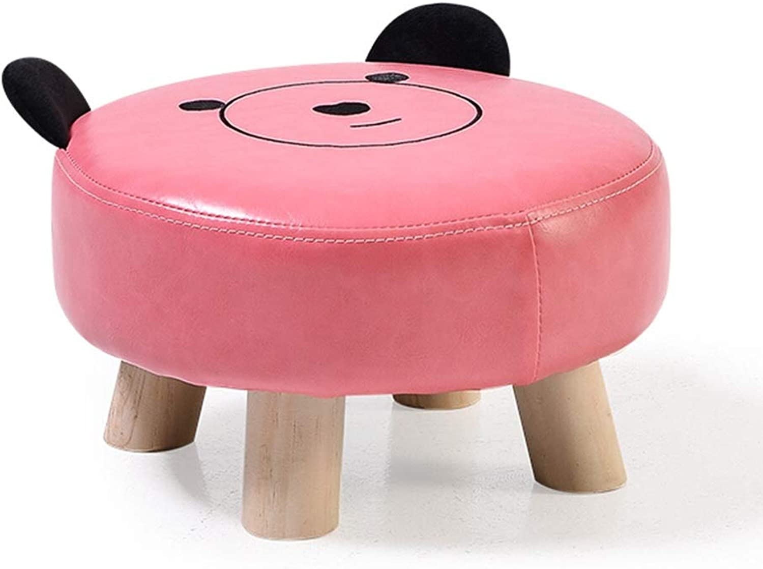 Small Stool-Solid Wood Stool Kindergarten Cartoon Small Bench Stool Cute Footstool Sofa Stool FENPING (color   A, Size   30.5  18cm)