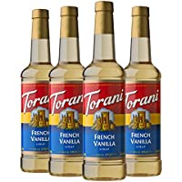 4-Pack Torani Syrup, French Vanilla, 25.4 Fl Oz