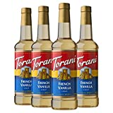 Torani Syrup, French Vanilla, 25.4 Fl Oz, Pack of 4