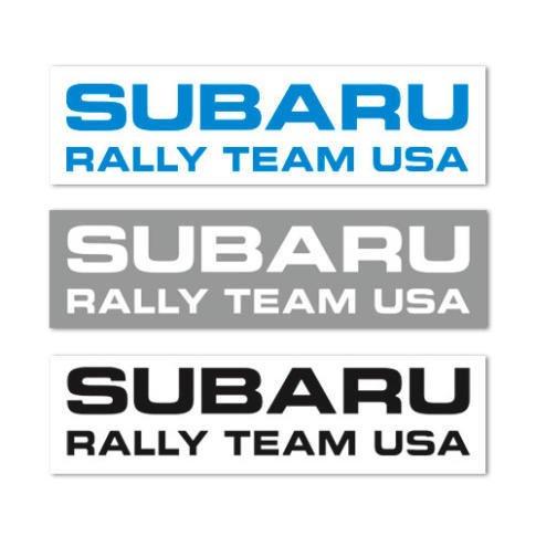 スバル ラリーチーム USA オフィシャル ステッカー (切文字3枚セット)