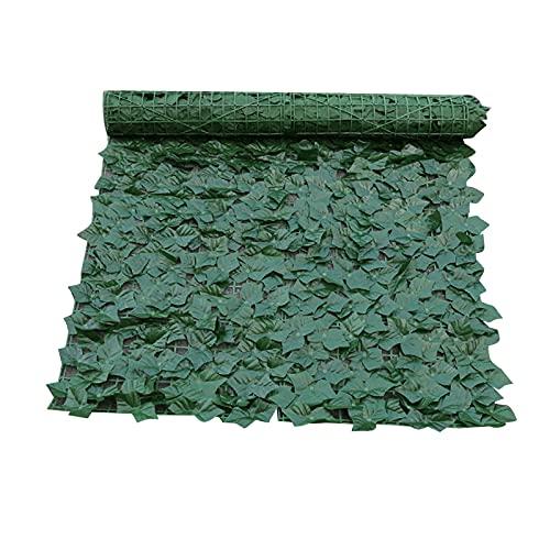 Valla artificial con hojas para balcón de valla de jardín de decoración de pared, setos artificiales, resplandor visual y para.