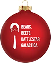 Vivid Ventures Bears Beets Battlestar Galactica Christmas Ornament - The Office Merchandise | Funny Dwight Schrute Novelty Gift for Men and Women - Dunder Mifflin Inspired Christmas Tree Ornaments