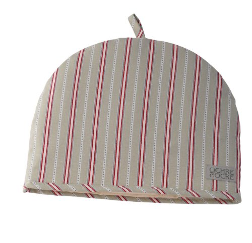 Ochre And Ocre Organic Cotton Tea Cosy - Malvern Grey Red