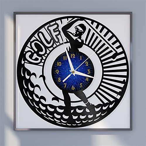 Jugar Tema de Golf Vinilo Registro Reloj de Pared, Reloj de Pared para la Cocina casa Sala de Estar Dormitorio Escuela Reloj de Pared Hecho de Vinilo Registro - Hecho a Mano - Diseño único
