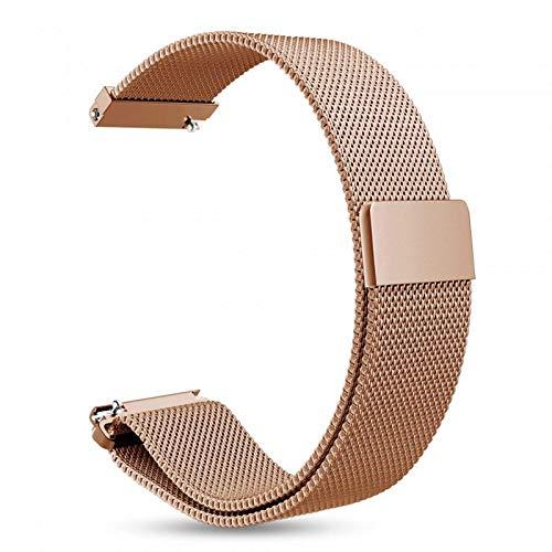 INF armband voor Gear S3 Classic, S3 Frontier, 22 mm brugbreedte, roestvrij stalen armband, vervanging, horlogebandje, wisselarmband, magneetsluiting, roségoud