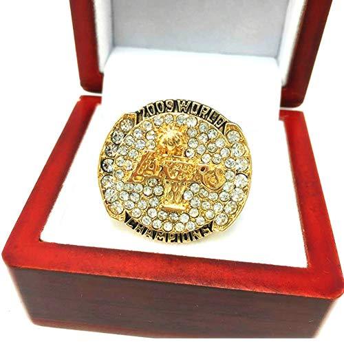 WSTYY NBA 2009 Lakers Championship Ring Anillos de Hombre, Championship Anillo de réplica Personalizado Anillos de Diamantes para Hombres