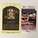 Autographed/Signed Wade Boggs HOF Hall Of Fame Baseball Plaque Postcard JSA COA