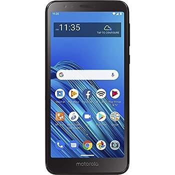 Net10 Motorola Moto E6 4G LTE Prepaid Smartphone  Locked  - Black - 16GB - Sim Card Included - CDMA