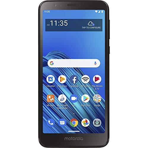 TracFone Motorola Moto E6 4G LTE Prepaid Smartphone (Locked) - Black - 32GB - Sim Card Included - CDMA - Fustration Free Packaging