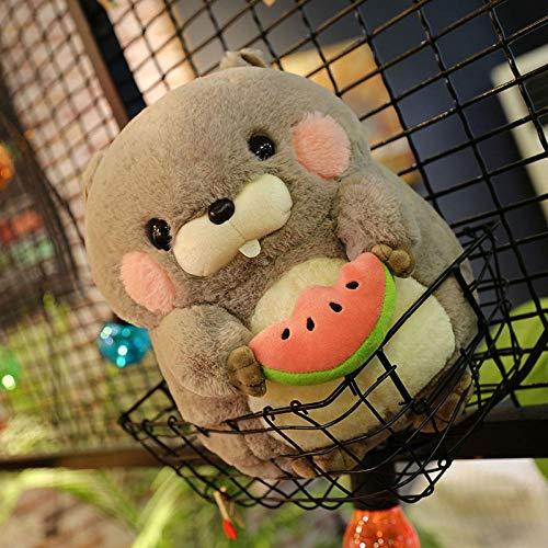 Pluche Leuke Groundhog Doll Children Ragdoll Knuffel Hamster-Grey_30cm