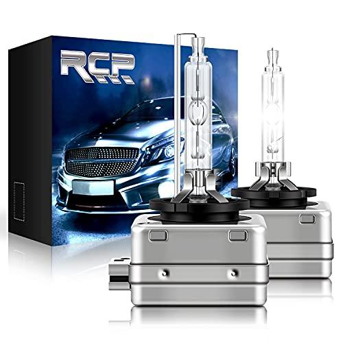 RCP - D1S6 - (A Pair) D1S/ D1R 6000K Xenon HID Replacement Bulb Diamond White Metal Stents Base Car Headlight Lamps Head Lights 35W