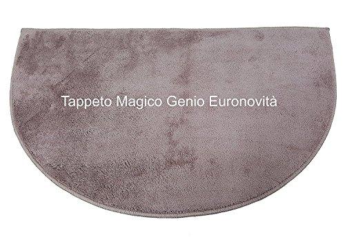 Euronovità Genio Tappeto per Ingresso Antiscivolo, Microfibra, Tortora, 74x45x2 cm