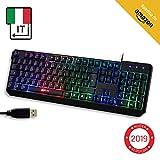 KLIM Chroma Tastiera ITALIANA per Gaming USB - Alte Performance – Colori da Videogioco e...