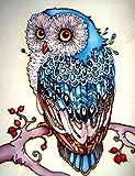JHGJHK Arte de Dibujos Animados búho Pintura al óleo habitación Familiar decoración Pintura (Imagen 7)