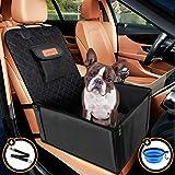 Looxmeer Asiento del Coche de Seguridad para Mascotas Perros, Funda Protector de Asiento de Coche para Mascota Gatos, Impermeable Oxford 600D con Cinturón de Seguridad, para Viaje, Negro
