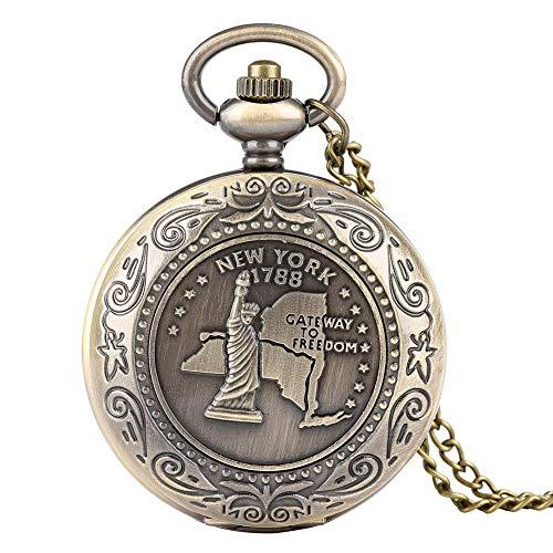 Zarte Schwarze Display Taschenuhr Kompass für Frauen Retro Bronze Body Pocket Uhren