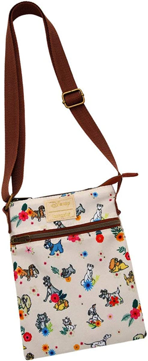 Loungefly Disney Dogs Cats online Ranking TOP2 shop Crossbody Floral Passport Bag