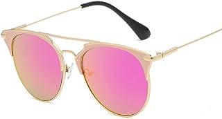 614281eee2 Gafas Gafas de Sol Unisex Fashion Classic Vintage Marco Redondo Cat Eye  Mirror Protección UV Unisexo