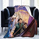Tangled Rapunzel Blanket QuiltMicrofiber Air Conditioning Quilt Soft Cozy Flannel Throw Blanket for Kids and Adults Room Bedroom Sofa LivingRoom 50 x 60 Blankets 60'x50'