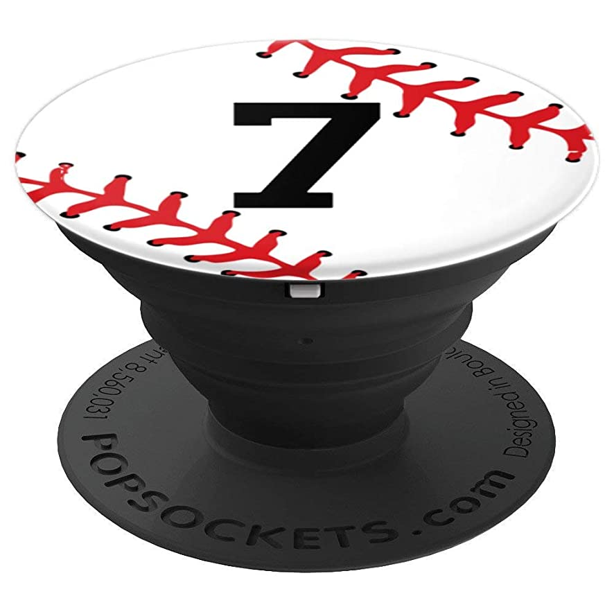 Baseball Number 7 Jersey Uniform Gift Player Gift for Boys - PopSockets Grip and Stand for Phones and Tablets