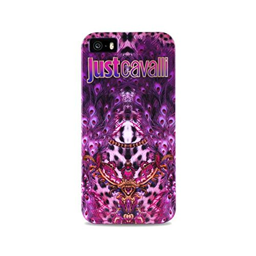 PURO JCIPC5LEOP1 Cover Just Cavalli per iPhone 5/5S/Se, Zebra/Rosa