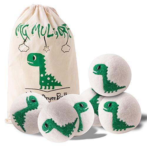 Wool Dryer Balls- 2019 New Green Dinosaur, 100% New Zealand Wool,...