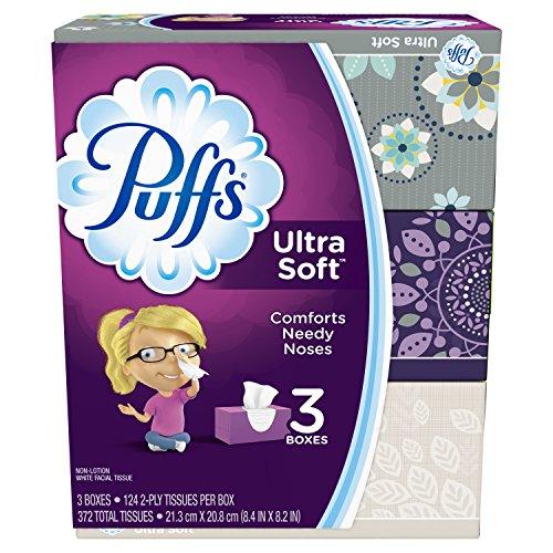 Puffs Ultra Soft Facial Tissues-124 ct, 3pk (Packaging may vary)