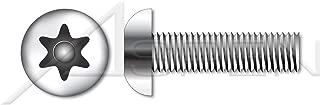 (1000 pcs) M3-0.5 X 8mm, Machine Screws, Metric, Button Head Tamper-Resistant 6-Lobe Torx Pin Drive, A2 Stainless Steel