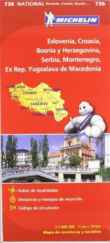 Mapa National Eslovenia, Croacia, Bosnia y Herzegovina, Serbia, Montenegro, Ex Rep. Yugoslava de Macedonia (Mapas National Michelin)