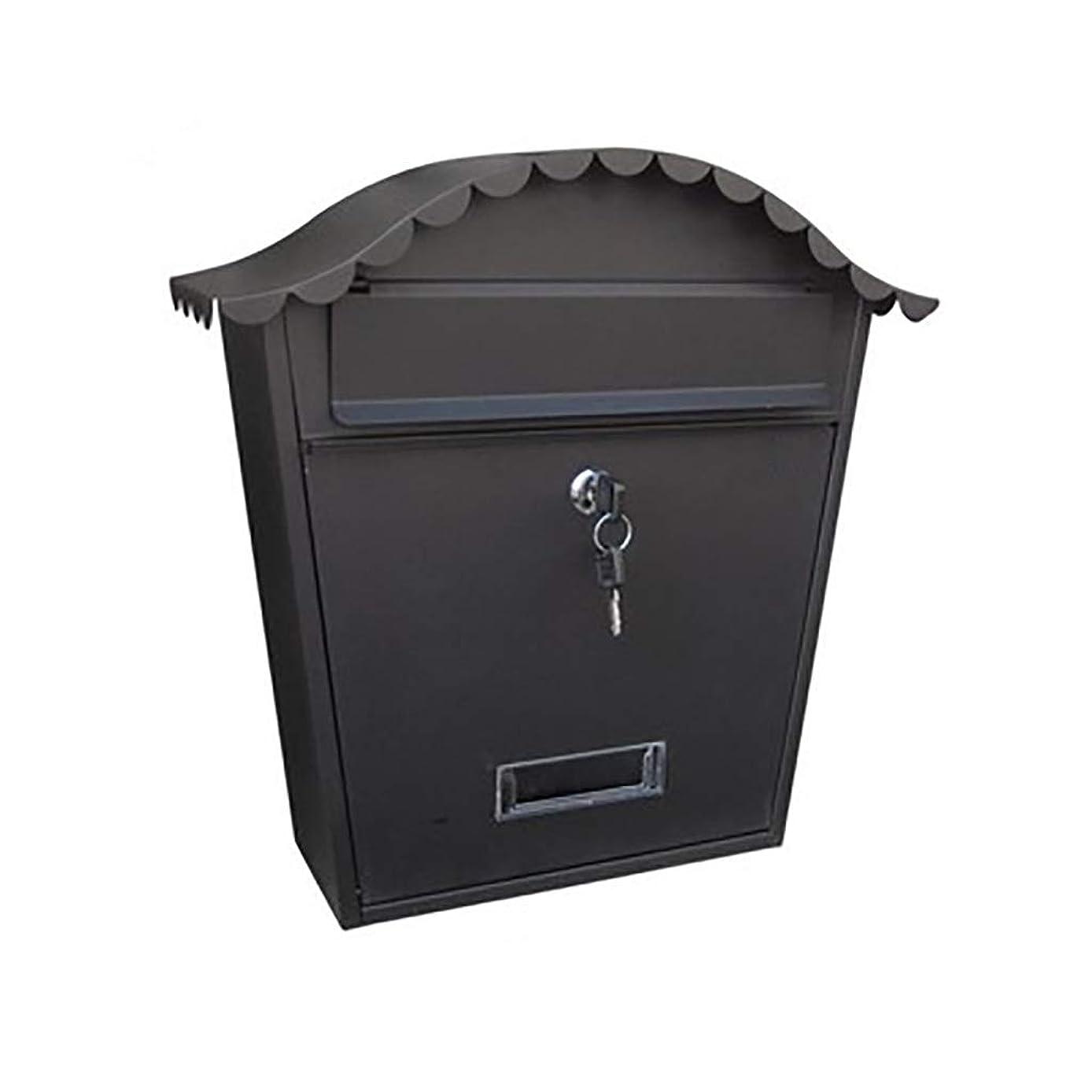 逮捕ブラウン質量YANFEI Mailbox メールボックス防水提案ボックス雨屋外のレトロなメールボックスの壁と錆のポスト、6色 (Color : F)
