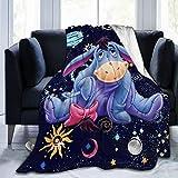 xiaoxiaoshen Acmiran Eeyore Blanket Flannel Soft Throw Blanket Home Bed Sofa Blankets Flannel Bed Warm Blanket