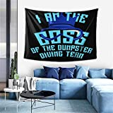 Dumpster Diving Team I Am The Boss Design Pullover Hoodie Wall Tapestry Apestry Album 3D Wall Hanging Art Home Decor Wave Tapestries 60in-40in