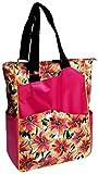 Glove It Women's Tennis Tote Bag Big Fashion Tote Bag for Women - Womens Large Tote Bags with Zipper & Shoulder Strap - 6 Outside Pockets - Ladies Sport Totes - 2018 Sangria, One Size