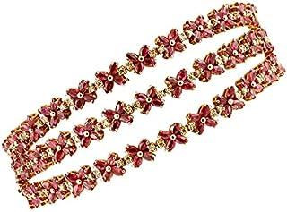 Bracciale Oro Rosa, Diamanti e Rubini