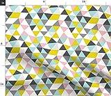 Spoonflower Stoff – geometrische Pastellkreiden Dreieck