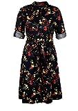 s.Oliver Damen Kleid, Black AOP, 46
