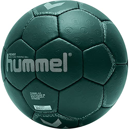 hummel 212551 Unisex-Adult Premier Hb Handball, DARK GREY/BLUE/YELLOW, 2