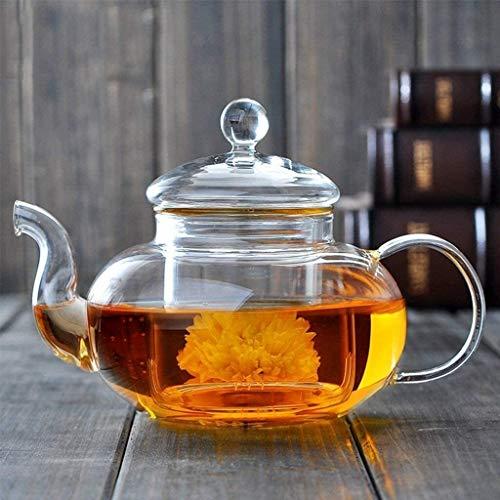 Bouilloire induction Hôtel Kettle Théière en verre résistant à la chaleur avec fil filtre Thé Ensemble de thé de santé plus épais pour le bureau de la maison extérieure WHLONG (Size : 800ml)