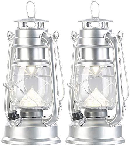 Lunartec Sturmlaterne LED: 2er-Set Ultra helle LED-Sturmlampen, Akku, 200 lm, 3 Watt (Dimmbare LED-Sturmlampe mit Akku)