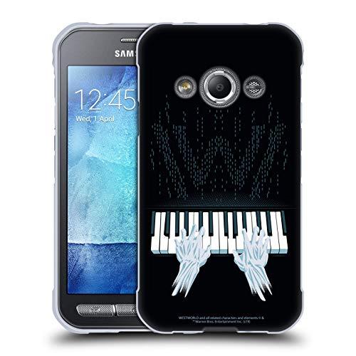Head Case Designs Offizielle Westworld Piano Grafiken Soft Gel Handyhülle Hülle Huelle kompatibel mit Samsung Galaxy Xcover 3