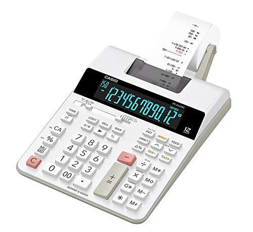 Calculadora com Impressora 12 Dígitos Bivolt,Casio, Branca