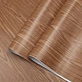 Brown Wood Contact Paper for Cabinets Wood...