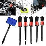 Auto Car Detailing Kit Profesional Pinceles de Detalles Automotriz con Herramientas de Limpieza de Parabrisas, para Auto SUV RV Camión, Barco, Campista, Limpieza Exteriorblue